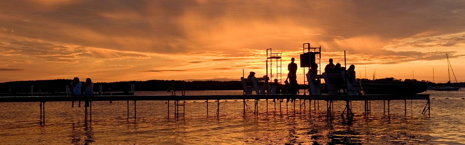 terrace pier in summertime